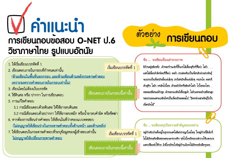 ครบแล้วทุกวิชา!! รูปแบบข้อสอบ และจำนวนข้อสอบ O-NET ป.6 ม.3 ม.6 ปีการศึกษา 2561